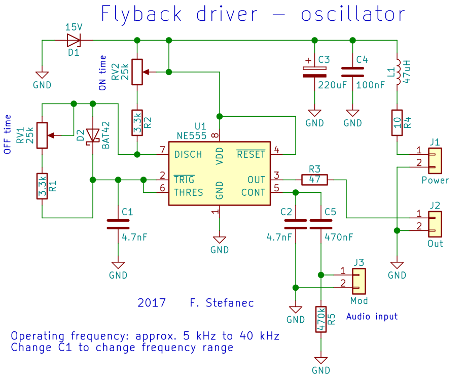tefatronix high voltage transformer driver (555 based) rh tefatronix g6 cz  oscillator schematic (click for full resolution) � mosfet connection diagram